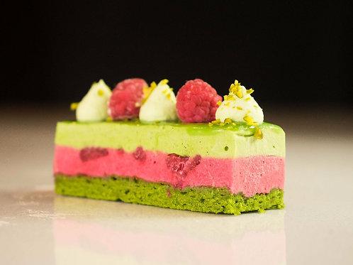 Raspberry Pistachio Cake | 4 pieces