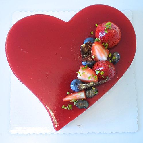 Raspberry Rose & Lychee Cake