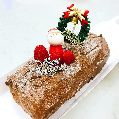 聖誕朱古力木頭蛋糕 X'mas Log Cake