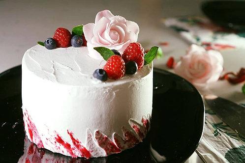 Vegan Raspberry Vanilla Cake