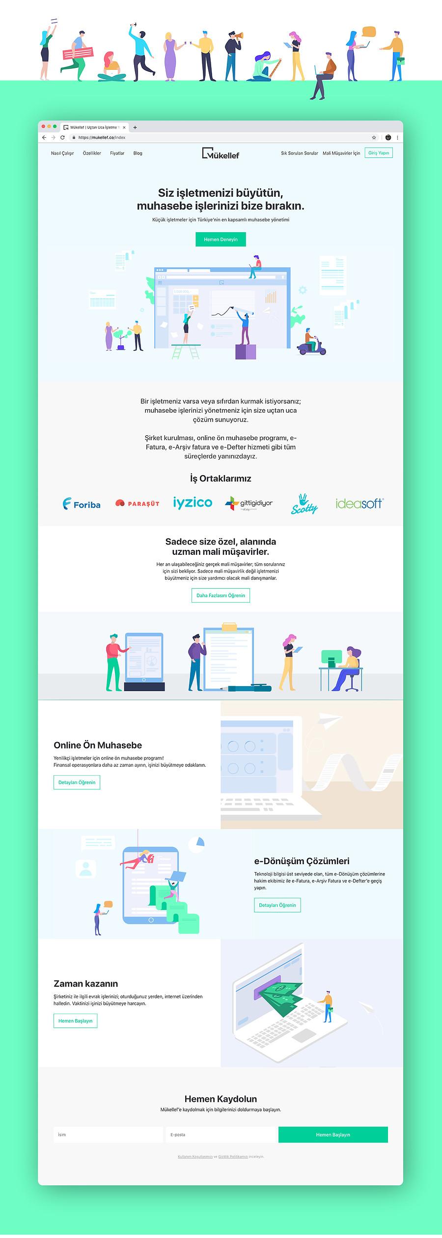 mükellef mali müşavirlik platformu illustrasyon web sitesi tasarımı