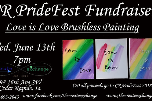 Love is Love Brushless Painting Class