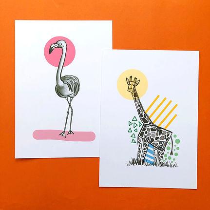 Giraffe and Flamingo Print.jpg