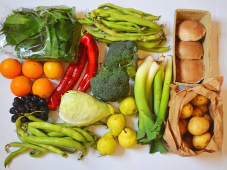 Vegetables all sorted