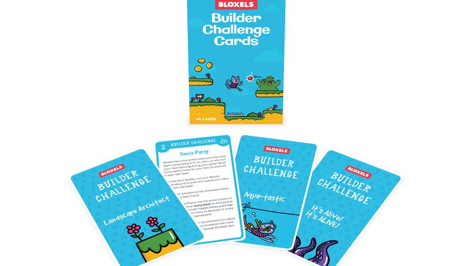 Bloxels Builder Challenge Card Deck