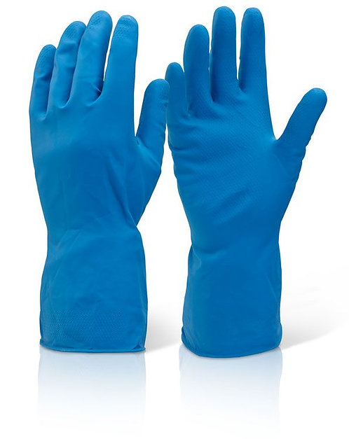 Latex Household Glove Blue