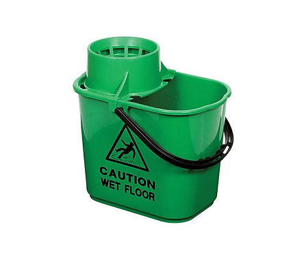 Mop Bucket & Wringer Green