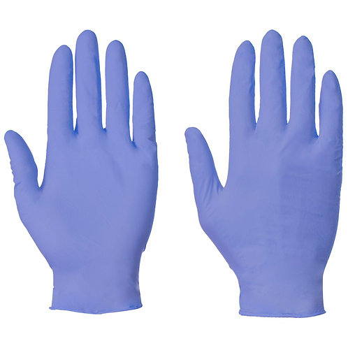 Ice Blue Nitrile Disposable Gloves