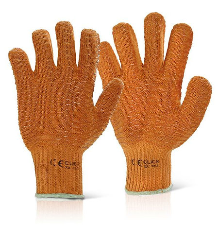 Orange Criss Cross Gloves