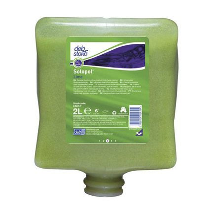 DEB Solopol Lime Medium-Heavy Duty Hand Cleanser 4L