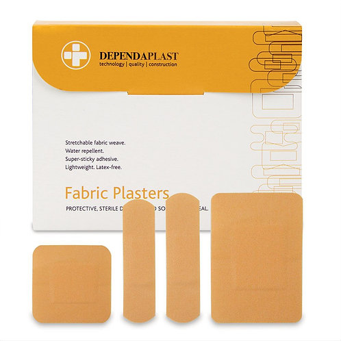 Fabric Plasters Assorted (100)