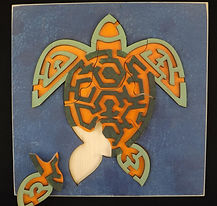 Eric Hoffman wooden toys sea turtle puzzle