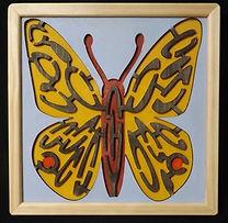 Eric Hoffman wooden toys butterfly maze