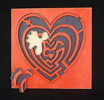Eric Hoffman wooden toys heart puzzle