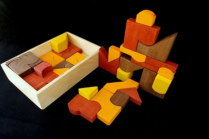 Eric Hoffman wooden toys puzzle blocks