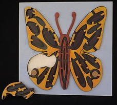 Eric Hoffman wooden toys butterfly puzzle