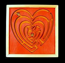 Eric Hoffman wooden toys heart maze