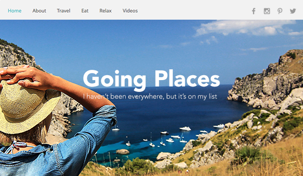 Lifestyle website templates – Traveler Blog