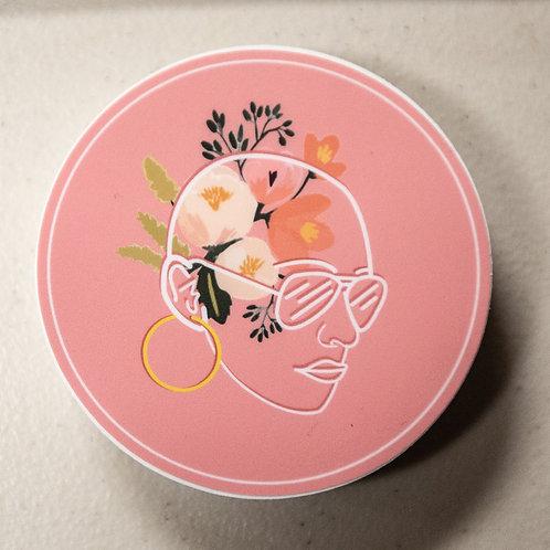 Bald Girl Sticker