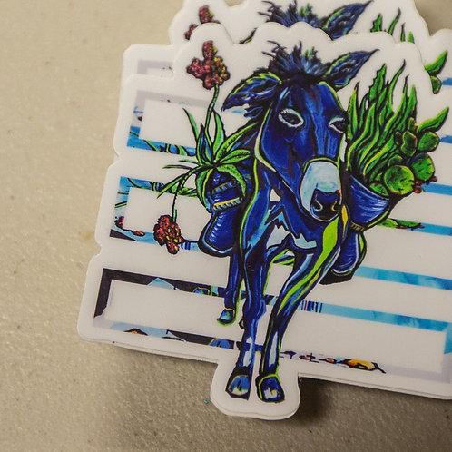 Blue Donkey Sticker