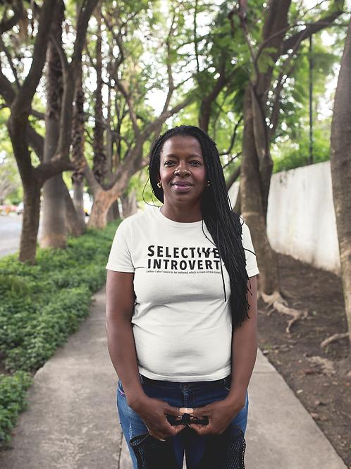 Selective Introvert Women's short sleeve t-shirt
