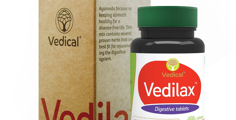Vedilax  Tablets (60) – Ayurvedic Digestive Care