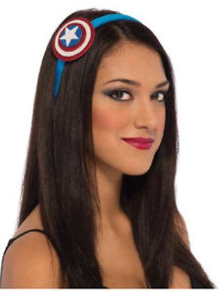 Captain America Headband, Adult