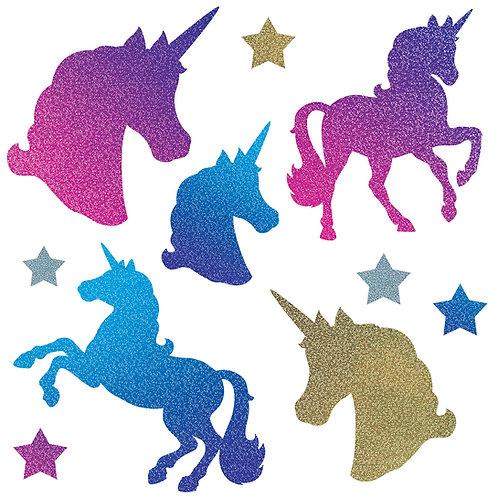 Unicorn Glitter Cutouts