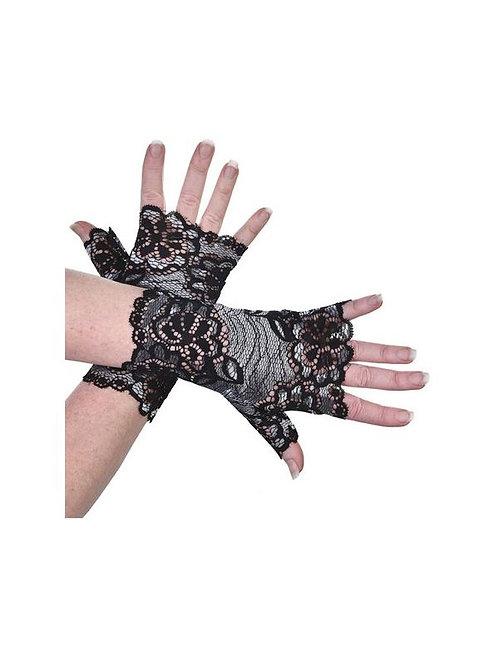 Fingerless Gloves - Lace Flowers