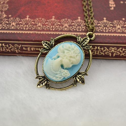 'The Vampire Diaries' Katherine Pierce Cameo Pendant Necklace