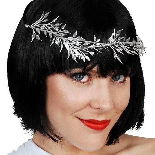 Silver Vine Leaf Headband