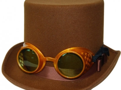 Bronze Top Hat with Goggles