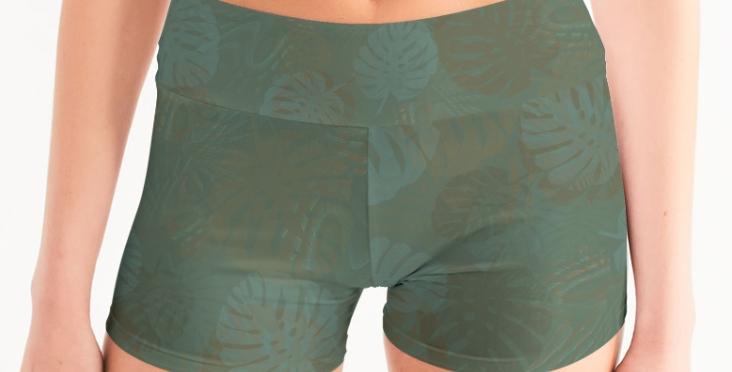 Tropical Daze Eco Yoga Shorts