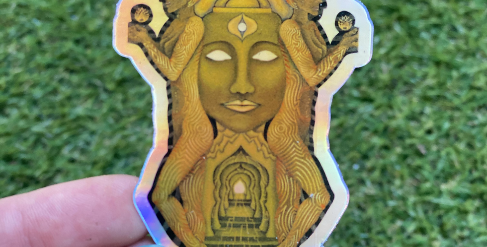 Temple of Seshat Holographic Sticker