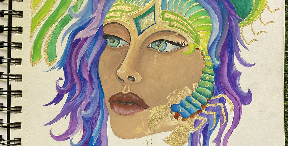 Scorpio Rising Painting