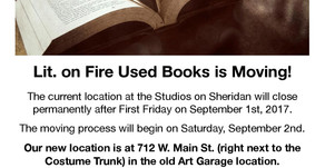 Lit. on Fire Used Books is Moving!