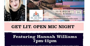 Get Lit. Open Mic Night featuring Hannah Williams