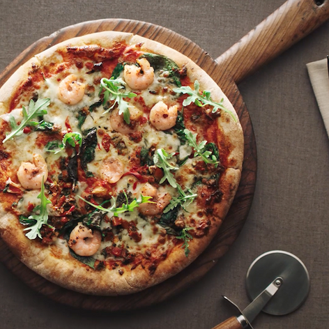 Tesco Finest Prawn Pizza