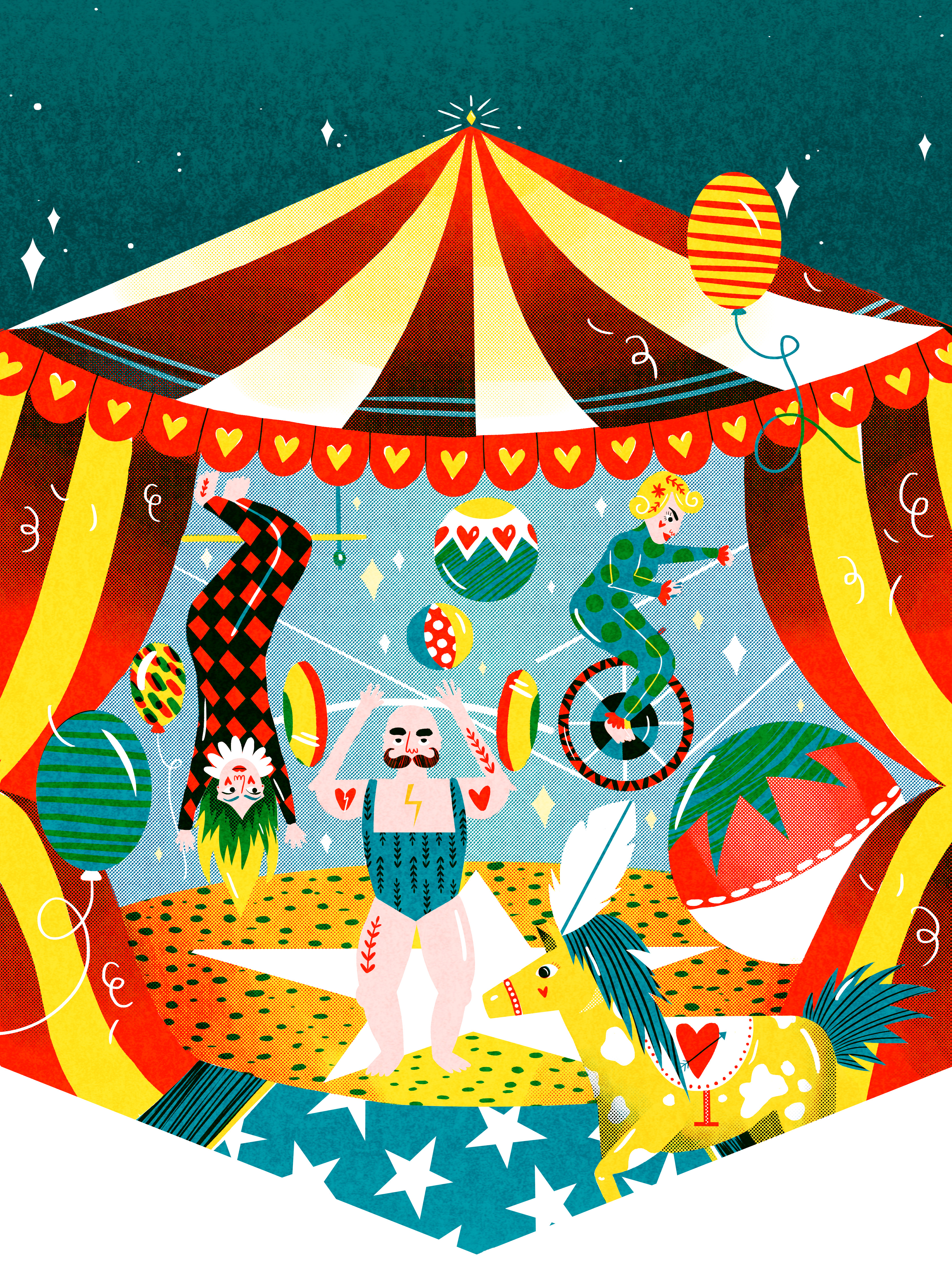 Fest mag cover illustration. Jas F