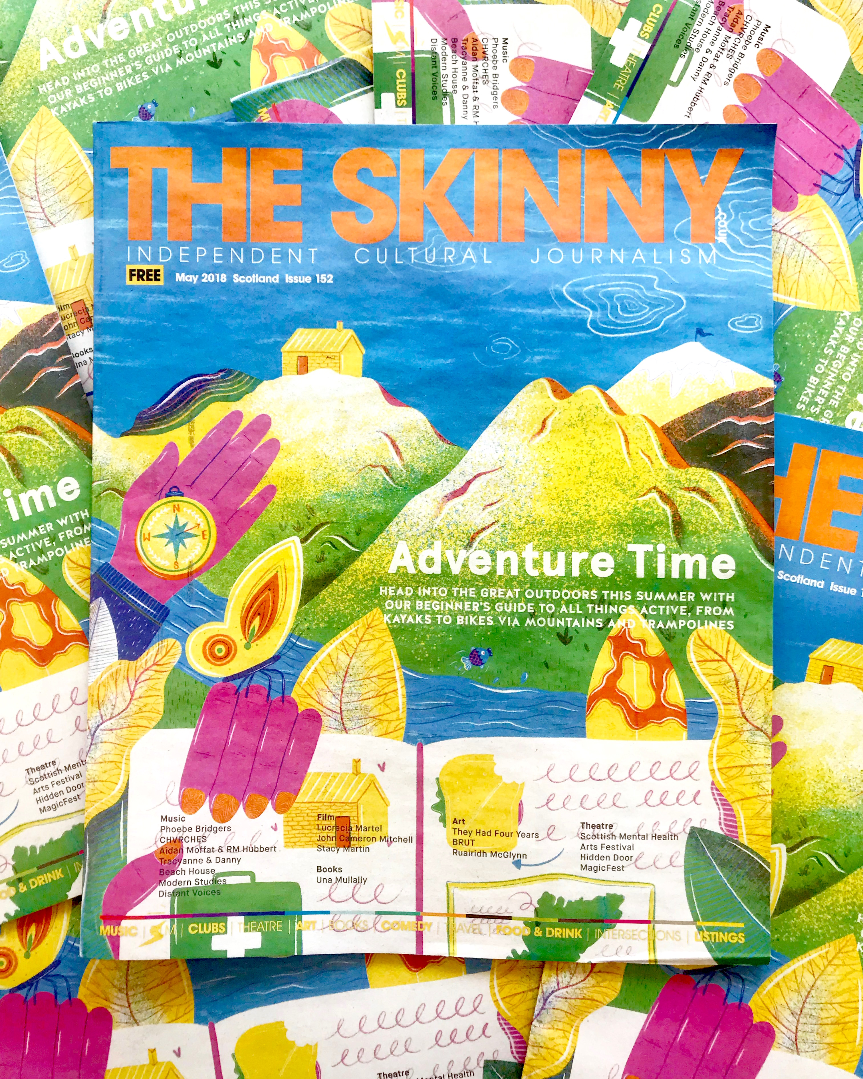 The Skinny Mag - May 2018 cover