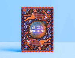 Alice in wonderland mock book cover illustration - Jasmine Floyd