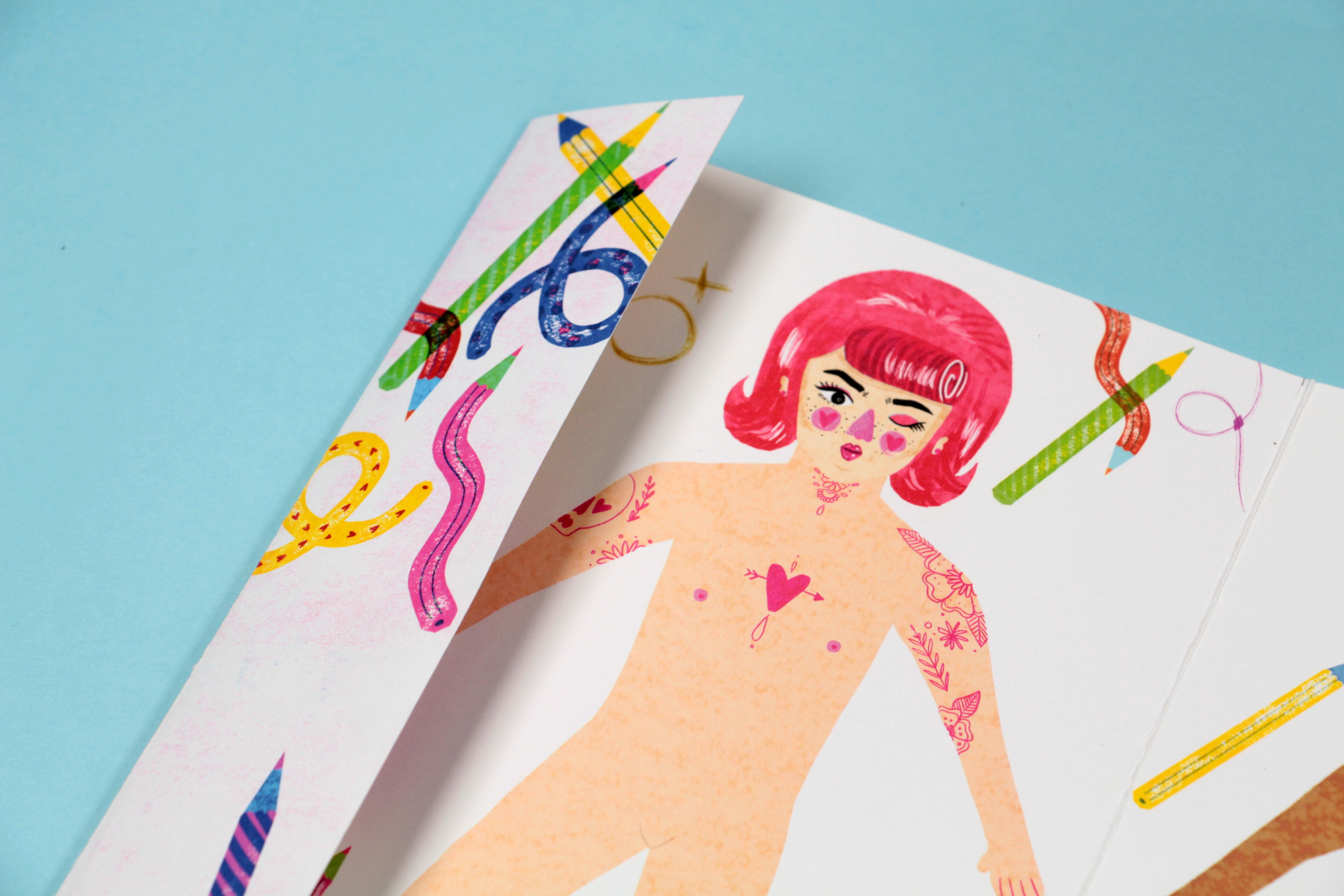Gender roles sticker book