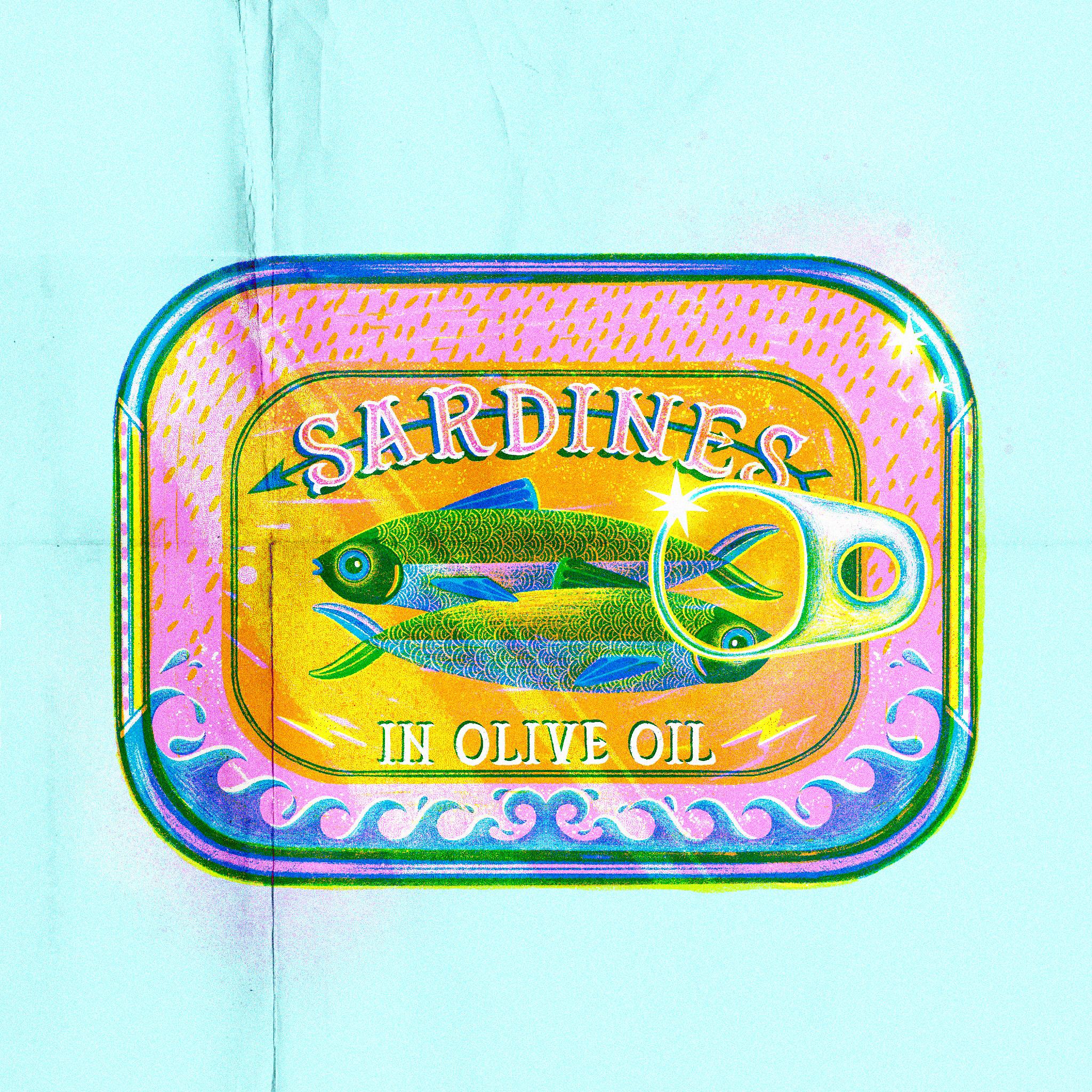 Sardine tin - jasmine Floyd