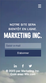 Page de lancement marketing