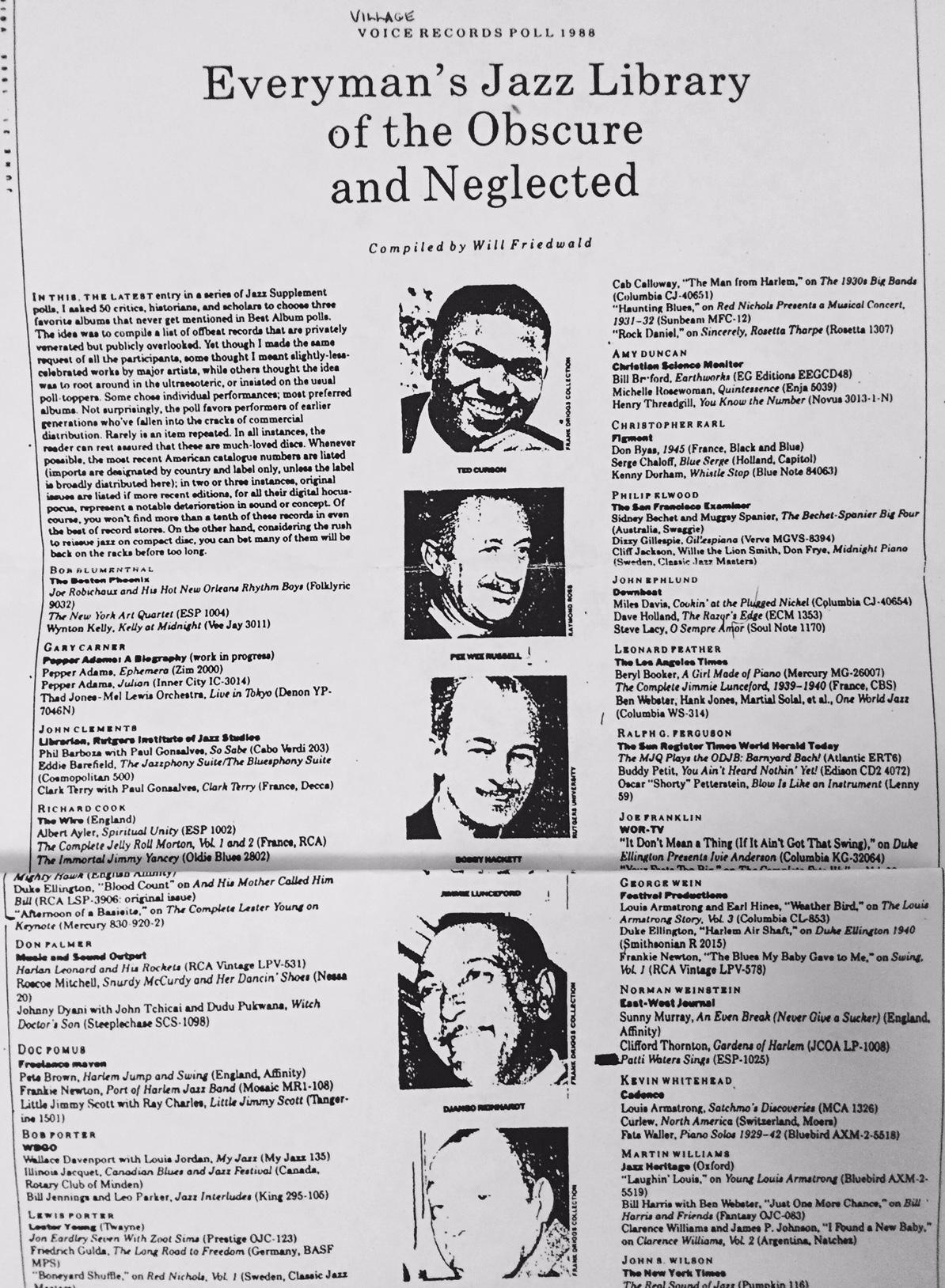 Village Voice Poll 1988