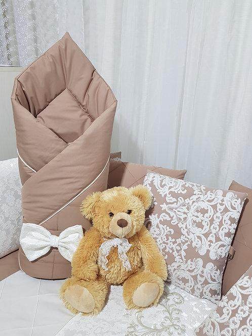 """Детский конверт одеяло для новорожденного на выписку """"Vinsent"""" какао"""