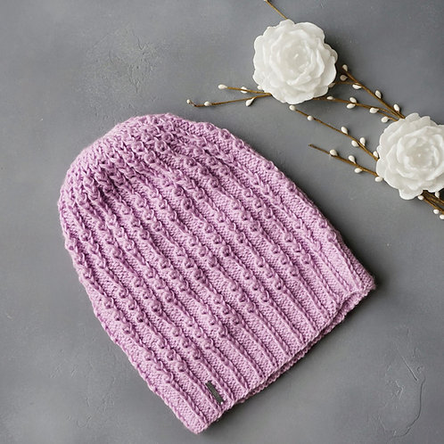 Купить шапку сиреневого цвета