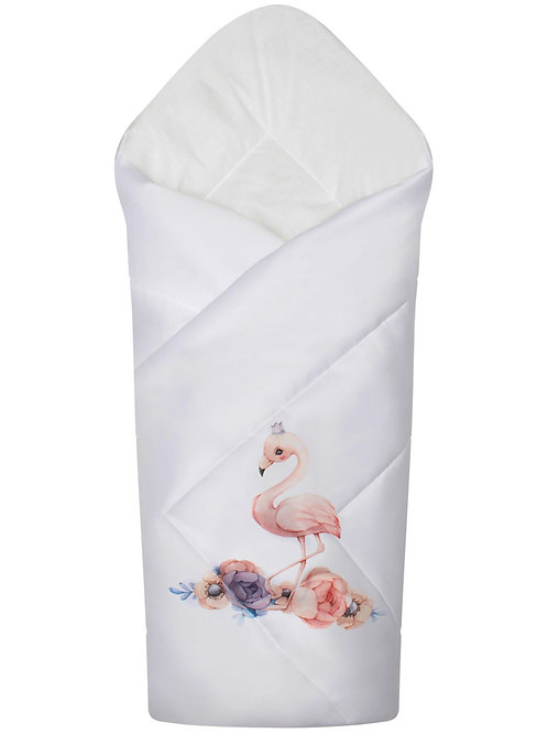 """Конверт одеяло на выписку демисезонный""""Принцесса фламинго"""""""