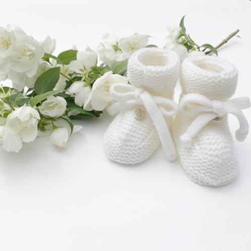Купить пинетки для малышей из мериносовой шерсти (цвет- молочный