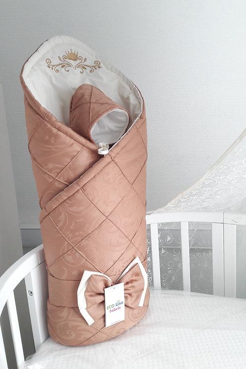 Конверт-одеяло на выписку из роддома шоколадного цвета